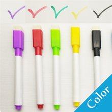 5 Pcs/lot coloré noir école classe tableau blanc stylo sec blanc tableau marqueurs construit en gomme étudiant enfants dessin stylo(China)
