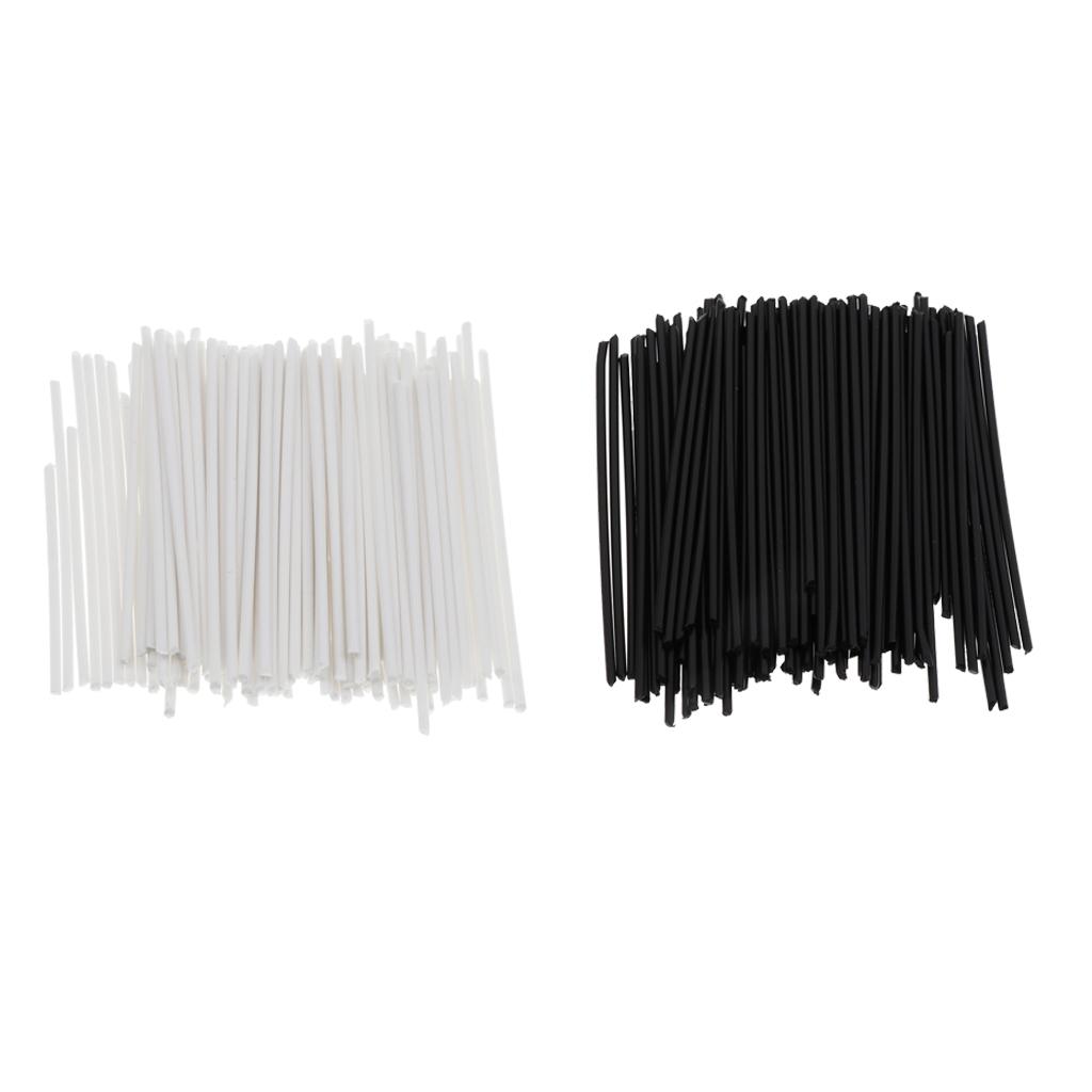 Finest Pack//200pcs Plastic Guitars Fretboard Fret Side Dot Markers Black White