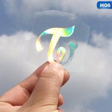 Kpop X1 GOT7 Tujuh Belas Dua Kali EXO DAY6 Cix NCT Astro Ikon Tim Korea Laser Decals untuk Armybomb Lightstick Laptop Sticker dekorasi(China)