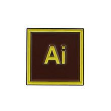 PS AI Pr Au lr Software di Progettazione Spilla Per Le Donne Degli Uomini Photoshop Premiere Designer di Gioielli Distintivo Camicia di Jeans Risvolto Spilli ornamento(China)