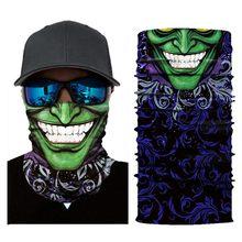 Motocicleta ciclismo cabeça cachecol pescoço mais quente crânio máscara facial esqui balaclava bandana máscara assustador dia das bruxas rosto escudo ao ar livre y7(China)