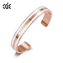 CDE Donne Braccialetti D'oro Braccialetti impreziosito da cristalli 18K In Oro Rosa TI AMO PER SEMPRE Gioielli Dichiarazione(China)