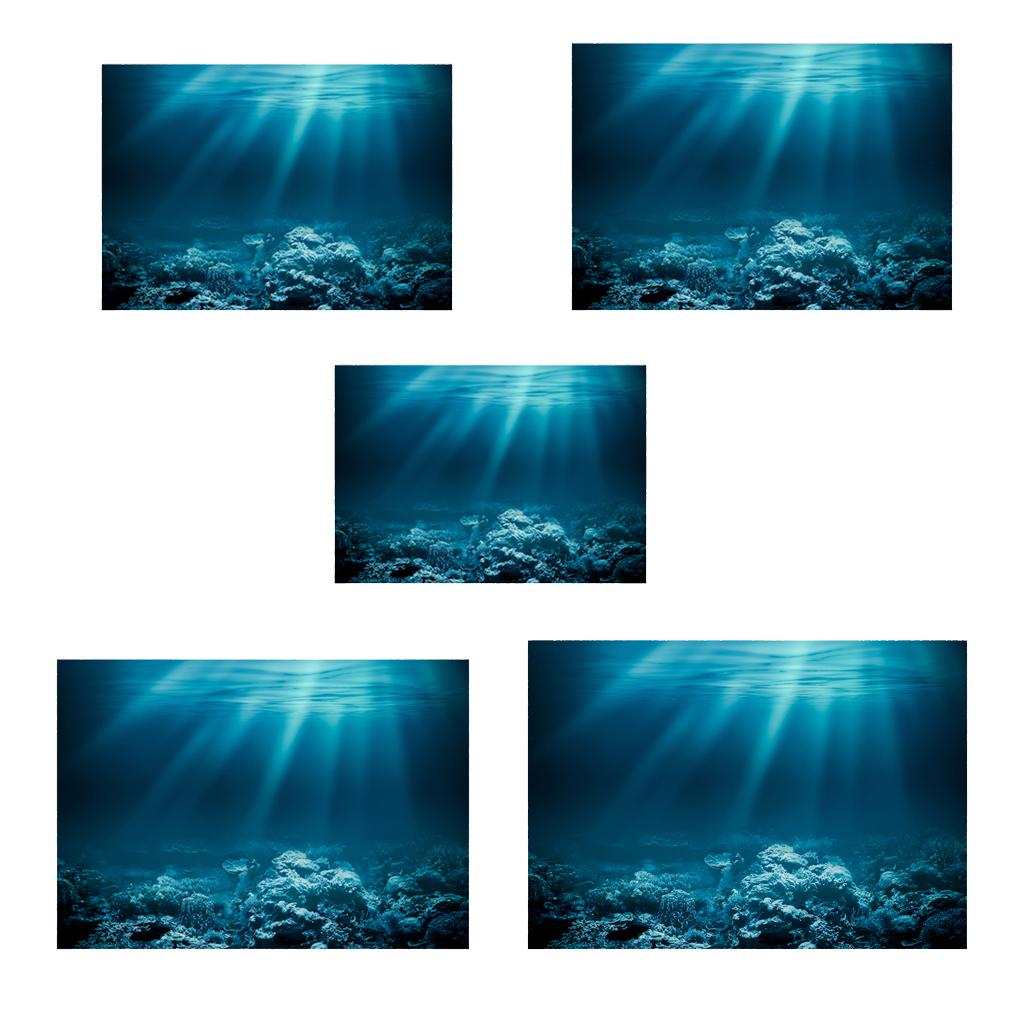 Serenable Aquarium Background Sticker Paper, 3D Fish Tank Adhesive Wallpaper Decoration, Underwater Backdrop