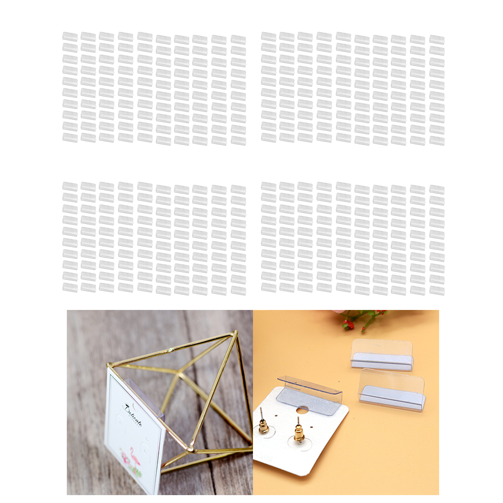 2.5x3cm 400pack Adhesive Lip Adapter or Hanger for Earring Card Display