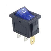 1 pièces KCD1 2PIin 3Pin bateau voiture interrupteur à bascule 6A/10A 250 V/125 V AC rouge jaune vert bleu noir bouton meilleur prix kcd1livraison gratuite(China)