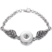 Baru Snap Perhiasan Gelang Kulit Berlian Imitasi Tombol Jepret Gelang untuk Wanita Pria Cocok Terkunci Tombol Perhiasan Pesona Gelang(China)