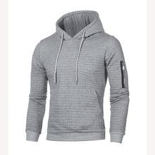 2019 sweter męski jednolity pulower nowe mody mężczyzna dorywczo sweter z kapturem jesień zima ciepłe Femme mężczyźni ubrania Slim Fit bluzy(China)