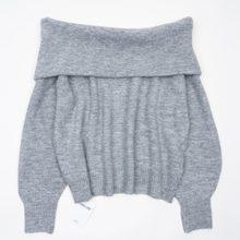 Camisola macia fora do ombro moda feminina camisolas de malha jumper(China)
