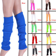 High Quality Boot Cuffs Women Winter Warm Leg Warmers Knitted Crochet Long Socks High Knee Socks 2019 Hot Sale Fashion Gift(China)