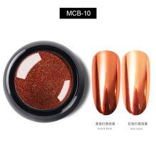 2020 Baru 0.5G Kuku Cermin Glitter Bubuk Warna Metalik Paku Seni Sinar UV Gel Polishing Chrome Serpihan Pigmen Debu Dekorasi manicur(China)