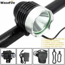 WasaFire 1800lm XM-L T6 LED vélo avant phare de vélo 8.4V18650 batterie Pack vélo lampe frontale lampe de poche avec chargeur(China)