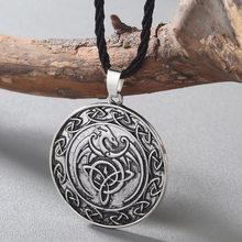 CHENGXUN moda męska naszyjnik Celtic smok wisiorek naszyjnik chłopcy skrzydło naszyjnik Norse Pagan runy wikingów biżuteria religijna(China)