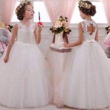 Платье с цветочным узором для девочек 2020 г., Открытое платье с цветочным рисунком на спине для девочек высококачественное свадебное платье ...(China)