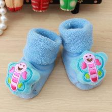 תינוק גרבי קריקטורה יילוד ילדי תינוק בנות בנים אנטי להחליק חם גרב נעל נעלי מגפי פעוטות קיד רך גרביים calcetines C800 #(China)