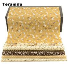 테라 밀라 플라워 디자인 20x25cm 100% 코튼 패브릭 Telas 패치 워크 인쇄 티슈 수제 DIY 퀼트 홈 재봉 재료 천(China)