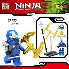 Única Venda Coleção LegoINGlys Mini Figura Ninja Arma ESPADA MESTRE CHAR AKITA Ga123-130 Tijolos de Aprendizagem Brinquedos para Crianças Presente(China)