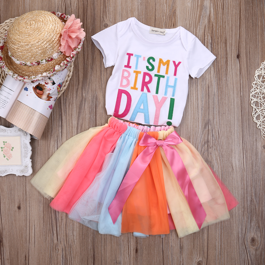 Mini honey 2PCS Toddler Kids Baby Girl Cotton Long Sleeve Princess Tutu Dress and/ Headband Party Outfits