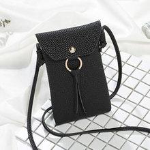 女性 Pu レザースモールクロスボディ女の子のためのメッセンジャーバッグミニ電話バッグ女性メッセンジャー財布ハンドバッグ(China)