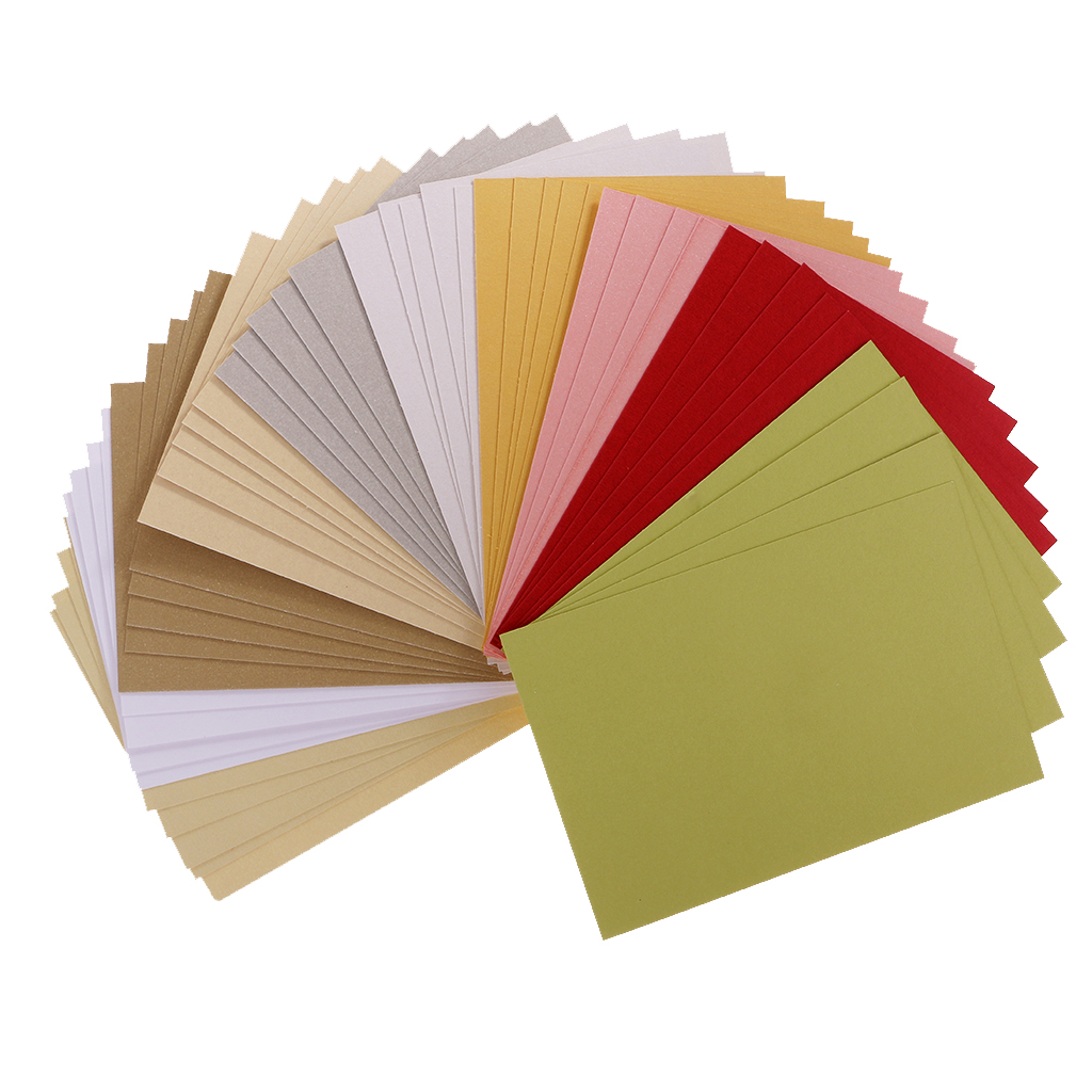 50 Sheets Pearlescent Cardstock Paper Crafts Specialty Paper Assorted Colors for Cards Crafts