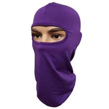 Máscara de cobertura de la cara completa tres 3 agujeros pasamontañas gorro de invierno tejido estirar la máscara de nieve Beanie Hat Cap nueva máscara negra cálida de la cara(China)