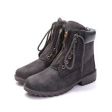 Donne stivali 2019 di modo caldo di scarpe delle donne di inverno della caviglia stivali punta rotonda caldi femminili più velluto stivali da neve delle donne scarpe(China)