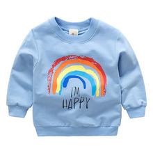 2019 yeni varış bebek kız yürümeye başlayan tişörtü kış bahar sonbahar çocuk Hoodies uzun kollu kazak çocuk T-shirt giysi(China)