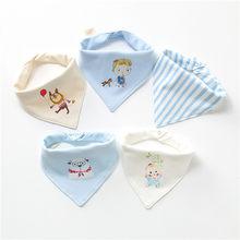 5 шт./упак. для малышей шарф прокладочная салфетка бандана хлопка нагрудники для новорожденных, для маленьких мальчиков и девочек ясельного ...(China)