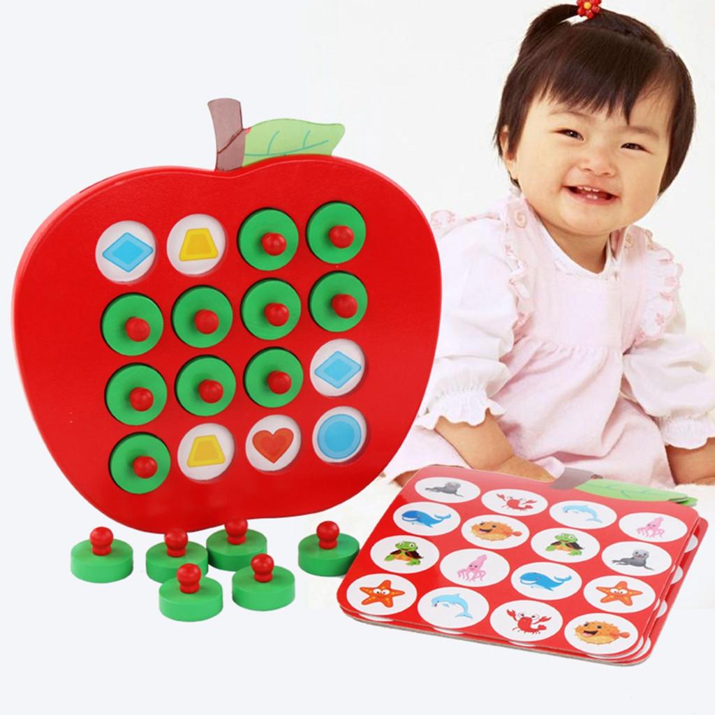Wooden Memory Match Stick Game Kid Intelligence IQ Brain Teaser Game UK