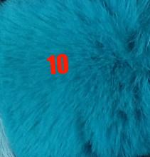 35 kleuren DIY 8cm Pompom Bal Kunstmatige Konijn Haar Bal Bont Pom Pom Bal Pluizige PomPon Bal Faux Konijn bont Hangend met Kleine Elastische Koord voor Hoeden Schoenen Tassen Sjaals Handschoenen Accessoires(China)