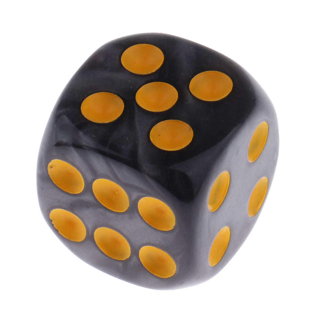 10 Pieces Plastic 6-sided Digital Dice D6 for Party Bar Table Game Accessory D&D MTG RPG Gaming Supplies
