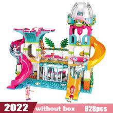 Gadis Kota Teman Princess Fantasy Carousel Mobil Colorful Liburan Playmobil Blok Bangunan Set Mainan Anak Kompatibel Secara Terbuka(China)
