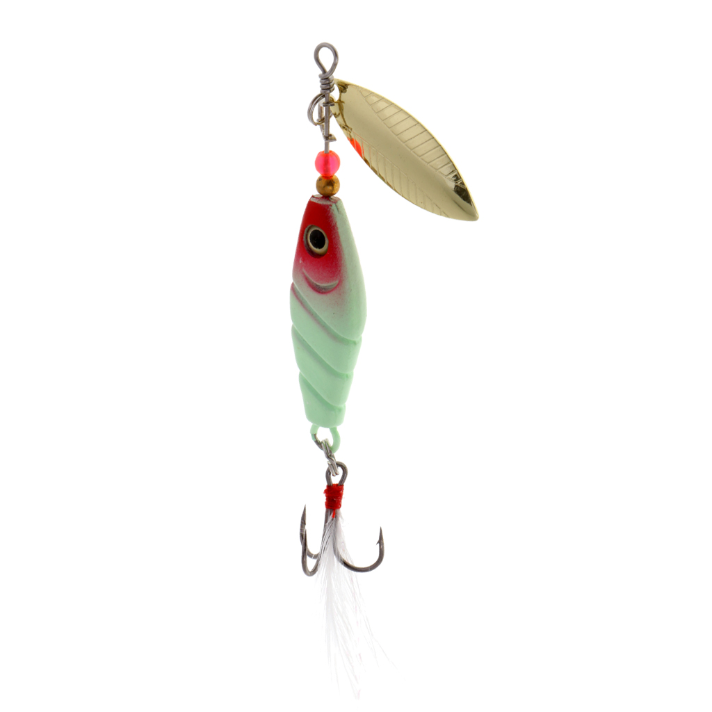 Luminous Metal Fishing Lure Spinners Spinnerbaits Spoons Bass Trout Salmon