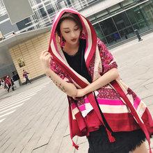 2019 Bohemia new silk print summer autumn scarf multi-functional anti beach sun protection for women(China)