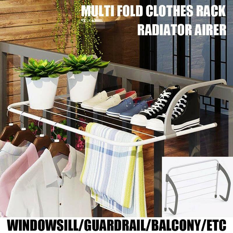 Radiator Folding Airer Towel Holder Clothes Dryer Drying Rack Rail