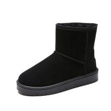 Mới Mùa Đông Nữ Ủng Ấm Sang Trọng Ngắn Mềm Mại Nữ Plus Kích Thước Mắt Cá Chân Giày Boot Nữ Lông Nền Tảng Nữ Casual giày Nữ(China)
