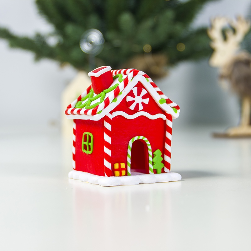 1 OR CHRISTMAS 5.25/'/'INCH GINGERBREAD HOUSE W//FAMILY FLATBACK RESIN ORNAMENT-NEW