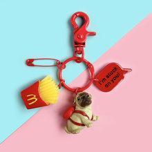 LLavero de resina Animal mascota perros Schnauzer galés Corgi llaveros regalo para mujer joyería llavero para amante de perros(China)