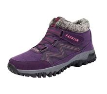 STQ Winter Frauen Schnee Stiefel Schuhe Runde Kappe Höhe Zunehmende Ankle Stiefel Schuhe Damen Flache Warme Push-Spitze-Up schnee Stiefel 6139(China)