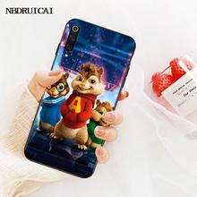 NBDRUICAI Alvin y las ardillas cubierta negro suave funda del teléfono carcasa para Redmi Note 8 8A 7 6 6A 5 5A 4 4X 4A Go Pro Plus Prime(China)