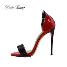 Doris Fanny open teen vrouw sandalen 2018 zomer schoenen enkelbandje hakken dames schoenen(China)