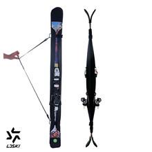 Kayak çantaları Snowboard kol çantası yastıklı snowboard kol katlanabilir ekonomik taşıma omuzdan askili çanta 3 velcro ve tokaları hafif(China)