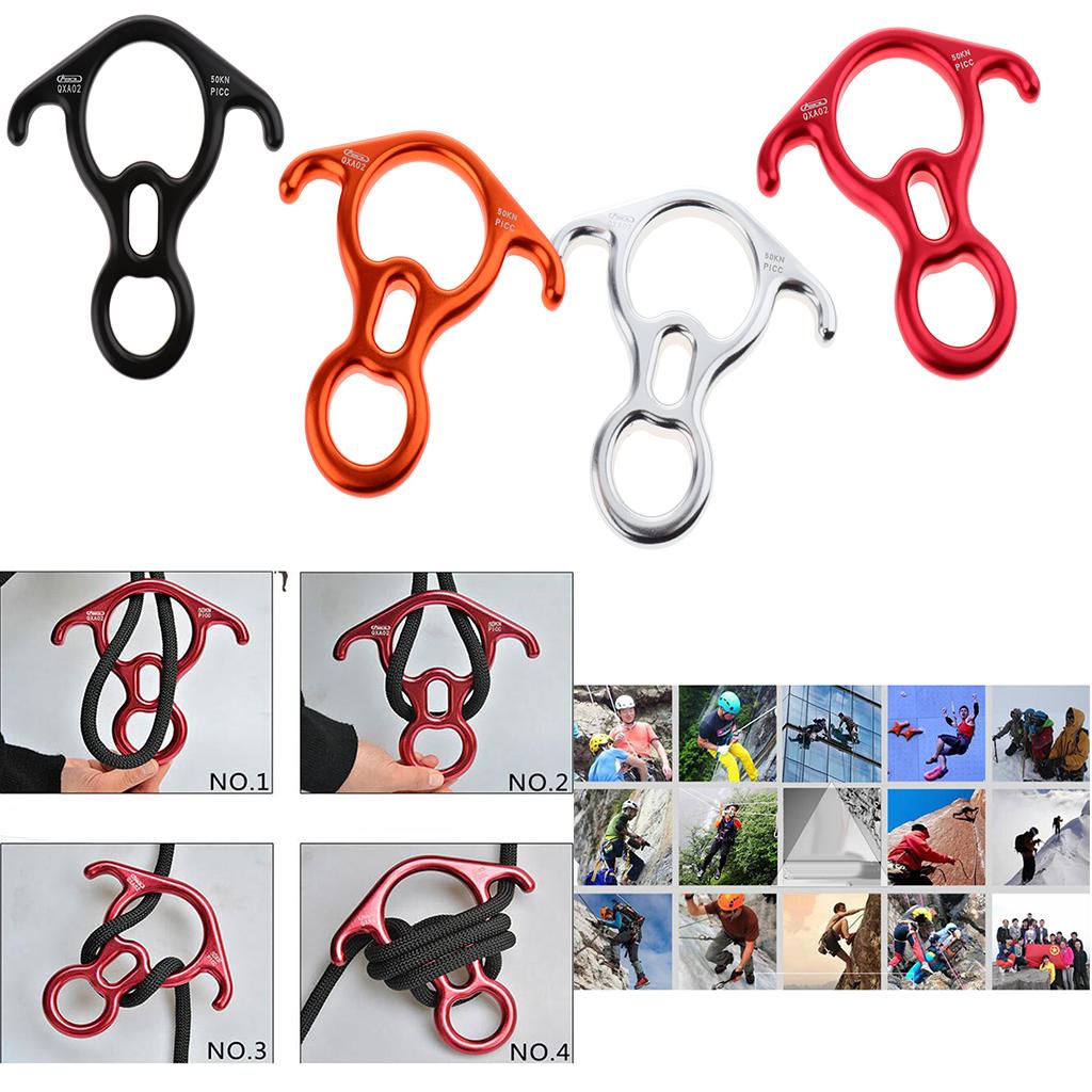 50KN Figure 8 Descender Rescue Bent-ear Locking 30KN Rock Climbing Carabiner
