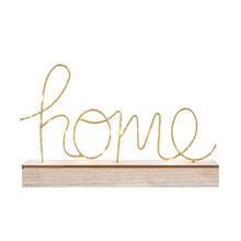 Новинка, светодиодный ночник с надписью LOVE & HOME, с деревянной основой, для украшения дома, статуэтки, светодиодный светильник для офиса, спал...(China)