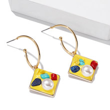 30 styles Colorful alloy earring pendant drop earrings for women unique design geometric statement earrings wedding jewelry gift(China)