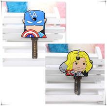 2 CHIẾC Hoạt Hình đáng yêu Móc khóa Anime Dễ Thương Mickey Gấu Stitch vỏ chìa khóa Silicone cú Porte Clef Nắp Minne Móc chìa khóa bảo vệ Emoji(China)