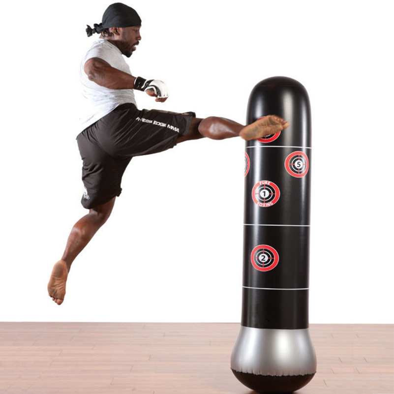 Inflatable Boxing Bag Training Fitness Pressure Relief Punching Standing Sandbag