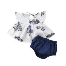 От Carter's, детский костюмчик, новинка для новорожденных, детская одежда для маленьких девочек футболки-топы с цветочным рисунком и с коротким...(China)