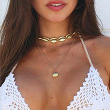 Bohemia Shell declaración Collar para mujeres con cuentas Chokers collares mujer moda Boho joyería África estilo Seashell collar(China)