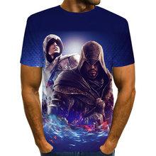Повседневная футболка в стиле хип-хоп Женская/мужская футболка Assassins Creed с коротким рукавом забавная 3D футболка летние топы футболки harajuku мо...(China)