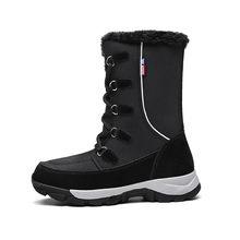 Kadın Botları Su Geçirmez Kış Ayakkabı Kadın Kar Botları Platformu Tutmak Sıcak Ayak Bileği Kış Çizmeler Ile Kalın Kürk Topuklu Botas Mujer(China)